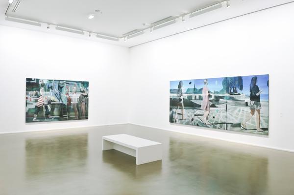 Vue de l'exposition de Marc Desgrandchamps