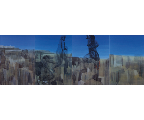 huile sur toile, 200 x 600 cm, quadriptyque<br/>Collection particuli�re<br/>Cr�dit photo : Galerie Z�rcher, Paris