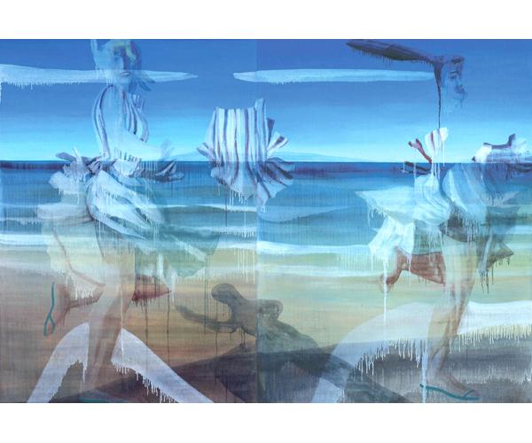 huile sur toile, 200 x 280 cm, diptyque<br/>Collection particulière<br/>Crédit photo : Galerie Zürcher, Paris