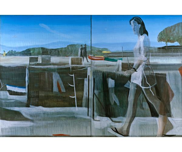 huile sur toile, 200 x 300 cm, diptyque<br/>Collection particulière<br/>Crédit photo : Galerie Zürcher, Paris
