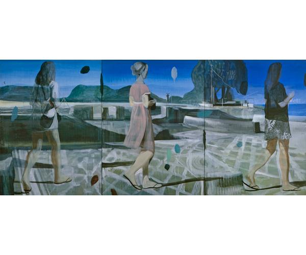 huile sur toile, 200 x 450 cm, triptyque<br/>Collection particulière<br/>Crédit photo : Galerie Zürcher, Paris