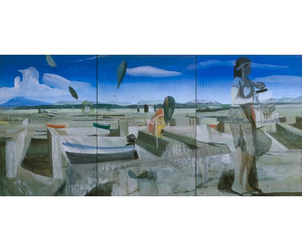 huile sur toile, 200 x 430 triptyque<br/>Collection particulière<br/>Crédit photo : Galerie Zürcher, Paris