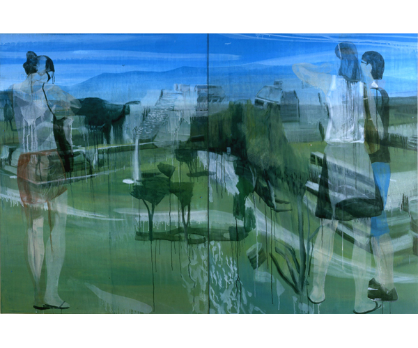 huile sur toile, 200 x 300 cm, diptyque<br/>Collection particuli�re<br/>Cr�dit photos : Galerie Z�rcher, Paris