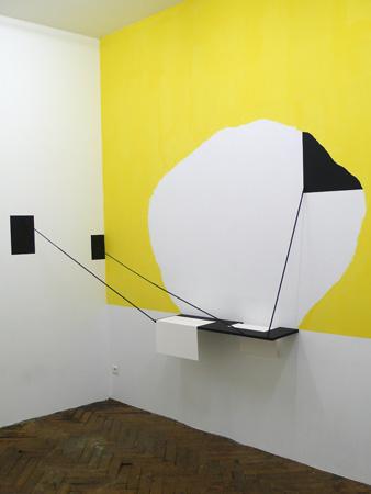 Olivier Nottellet, vue de l'exposition Mur porteur, 2011