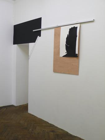 Vue de l'exposition Mur porteur, 2011