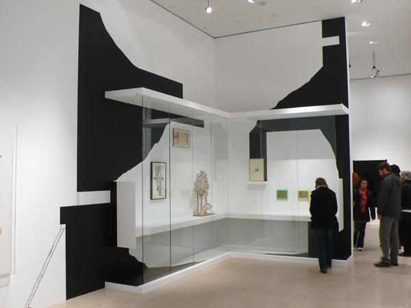 Olivier Nottellet, vue de l'exposition Le temps du dessin, Nancy, 2010