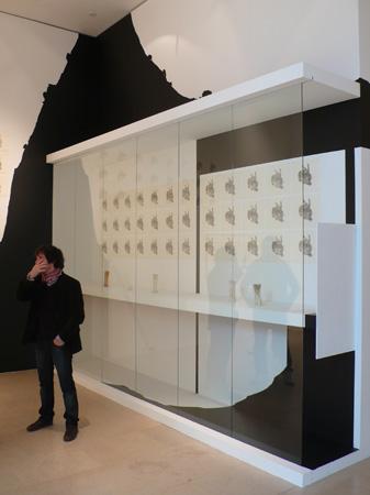 Vue de l'exposition Le temps du dessin, Nancy, 2010