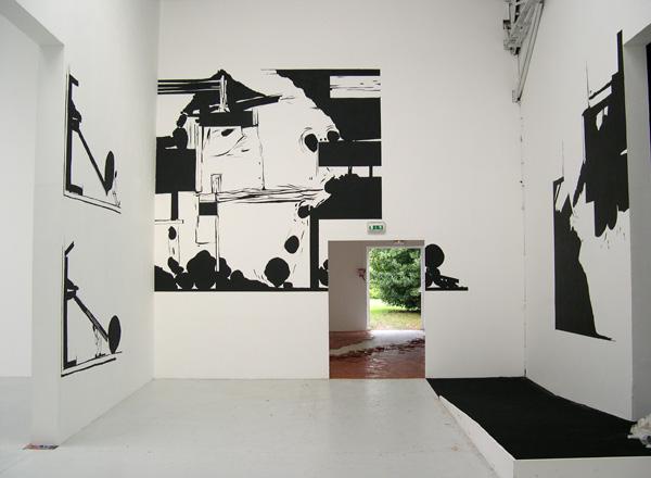 Olivier Nottellet, vue de l'exposition Les 10 ans de la Station, Poitiers, 2006