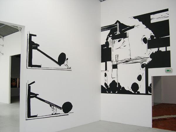 Vue de l'exposition Les 10 ans de la Station, Poitiers, 2006
