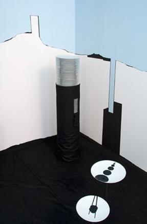 Olivier Nottellet, vue de l'installation La balance des blancs, Paris, 201