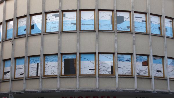 Olivier Nottellet, Sélest'Art, 19ème Biennale d'art contemporain de Sélestat, fenêtres du magasin, 2011