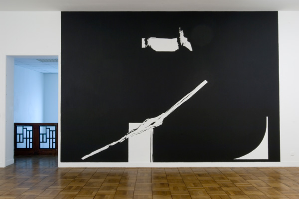 Olivier Nottellet, vue de l'exposition Bivouac et autre salle de sport, 2008