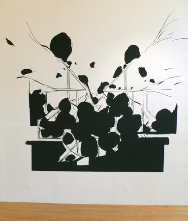 Olivier Nottellet, vue de l'exposition Dessin partout, 2009