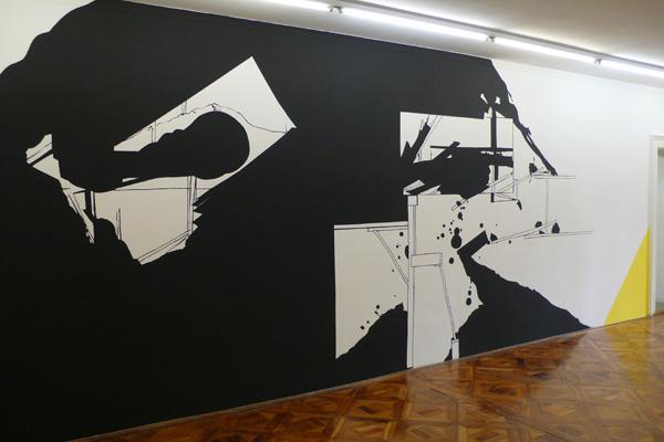 Vue de l'exposition Le bruit du dessin, 2012