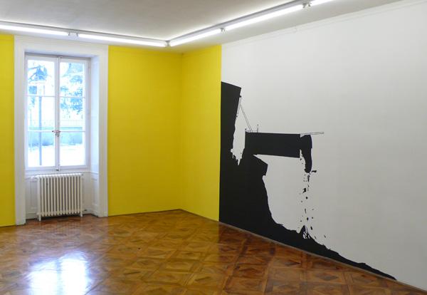 Olivier Nottellet, vue de l'exposition Le bruit du dessin, 2012