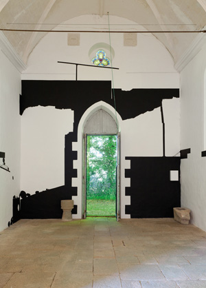 Olivier Nottellet, vue de l'exposition L'art dans les chapelles, 2011