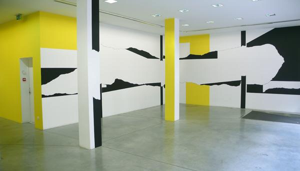 Olivier Nottellet, vue de l'exposition, J'y pense et puis j'oublie, Fontaine, 2009