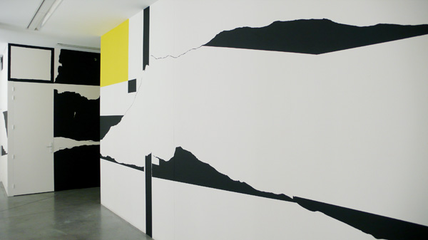 Vue de l'exposition, J'y pense et puis j'oublie, Fontaine, 2009