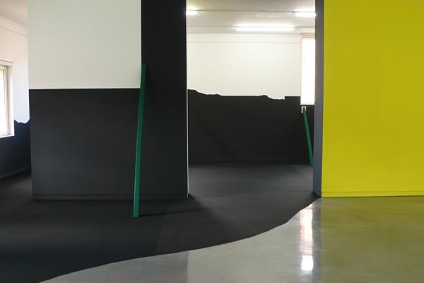 Vue de l'exposition Géographies du dessin, 2011