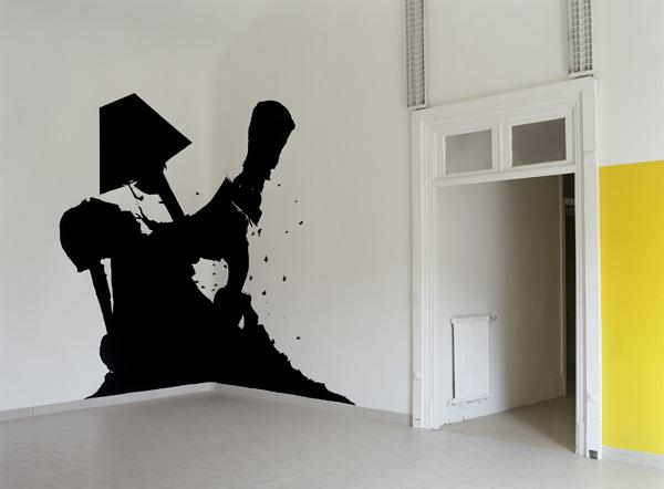 Olivier Nottellet, vue de l'exposition White spirit, Nice, 2005