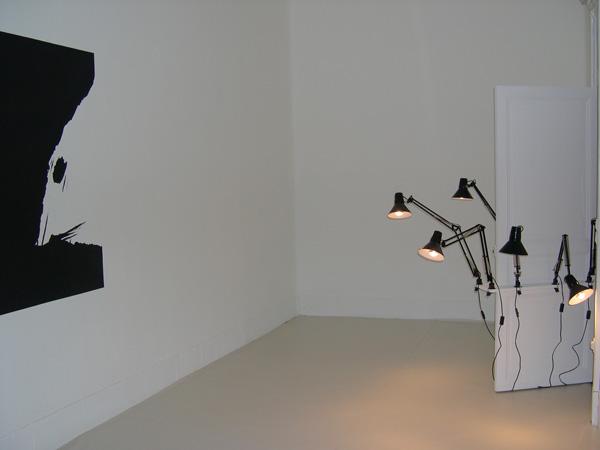 Vue de l'exposition White spirit, Nice, 2005