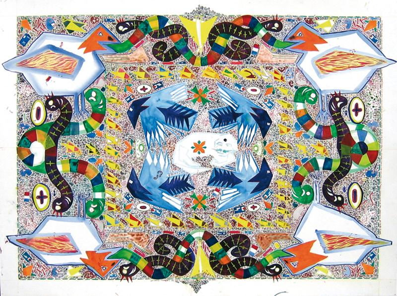 Mandala naissance sauterelle, 2004
