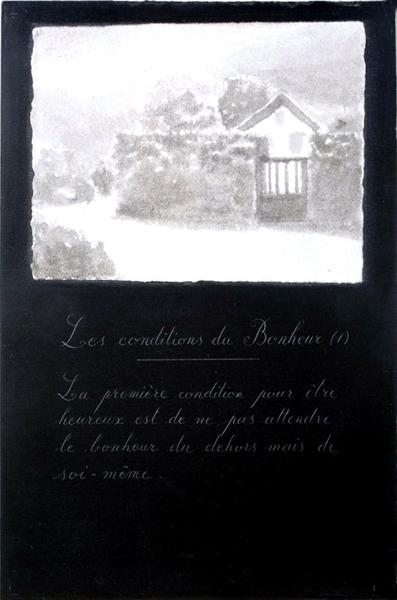 Les conditions du bonheur, 1992