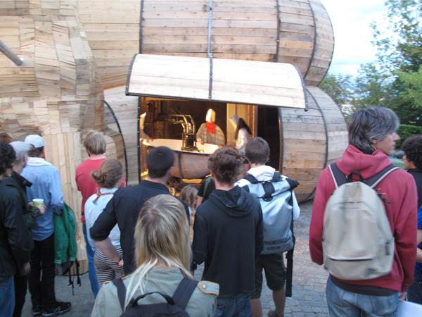 Vernissage de l'exposition <i>Le Trou</i>, Villa Bernasconi, Genève, 2012<br/>4/4