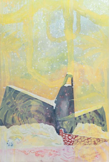 Huile et peinture à carrosserie sur toile, 195 x 130 cm