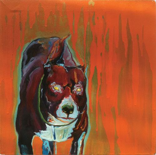 Alkyde et huile sur toile, 37 x 37 cm