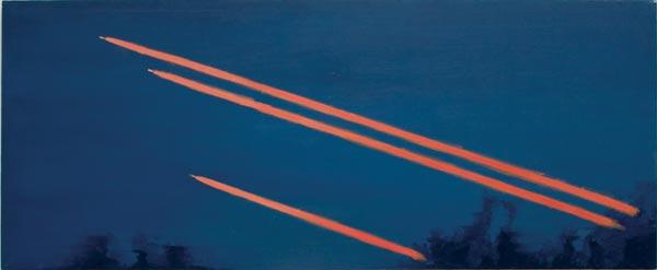 Alkyde et tempera sur toile, 240 x 90 cm