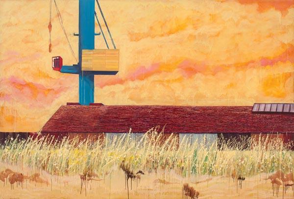 Alkyde et huile sur toile, 340 x 240 cm