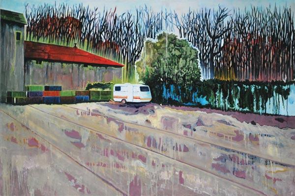 Huile et alkyde sur toile, 150 x 100 cm