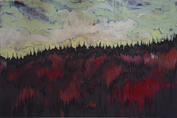 Alkyde et huile sur toile, 150 x 100 cm