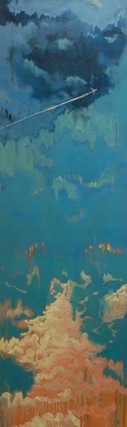 Alkyde et huile sur toile, 60 x 200 cm