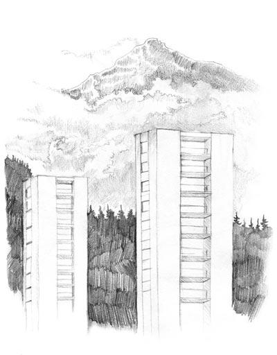 Dessin au crayon sur papier, 21 x 29,7 cm