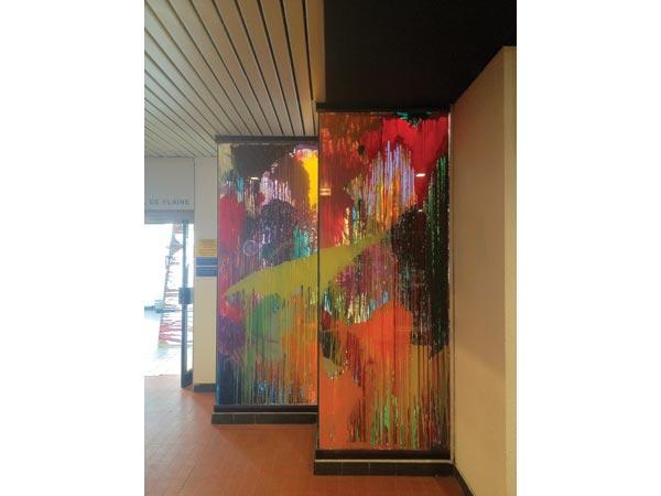 Alkyde et peinture à carrosserie sur verre, 2 formats, 247 x 100 cm</br>2/19