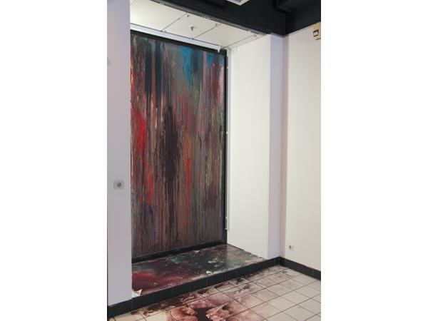 Alkyde et peinture à carrosserie sur verre, 247 x 155 cm</br>4/19