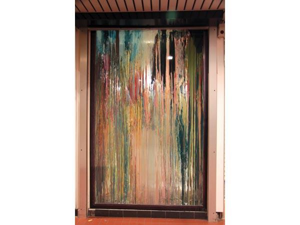 Alkyde et peinture à carrosserie sur verre, 247 x 155 cm</br>3/19