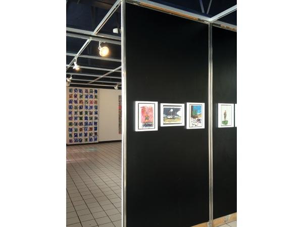 Série de peintures, gouache et acrylique sur papier, format A4</br>9/19