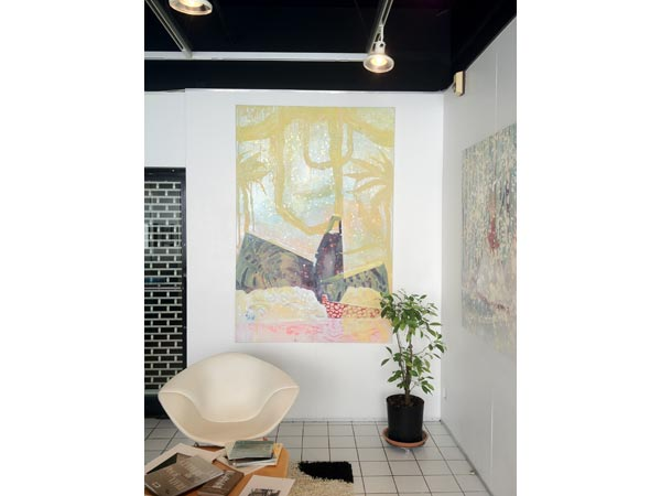 <i>Monument #02</i>, huile et peinture à carrosserie sur toile, 195 x 130 cm, 2012</br>19/19