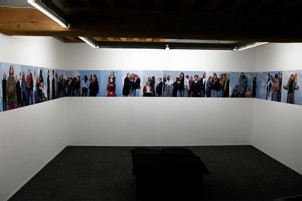 Yveline Loiseur - Vue de l'exposition Adolescences critiques, Le Bleu du Ciel, Lyon, 2013