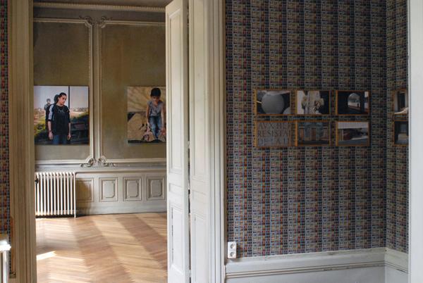 Yveline Loiseur - Dans les plis sinueux des vieilles capitales, vue d'exposition, Maison Populle, Roanne
