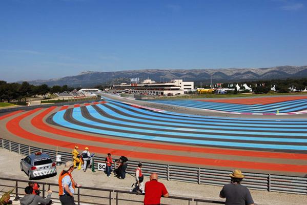Projet <i>in situ</i>, Circuit P. Ricard, Marseille<br/>Série de marquages de bord de piste