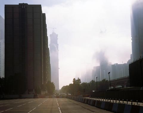 Pascal Poulain, série Fog in progress, 2009
