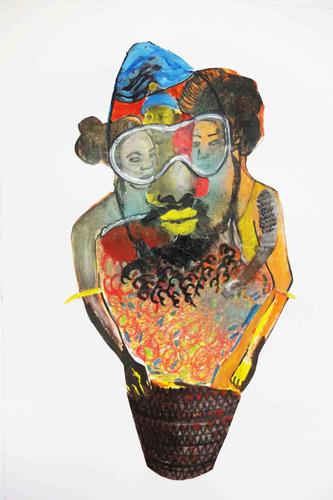 encre, gouache et crayon sur papier, 29 x 42 cm, 2015