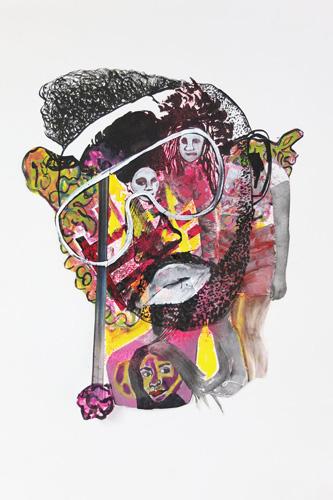 encre, gouache et crayon sur papier, 42 x 30 cm, 2015