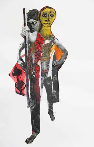 encre, gouache et crayon sur papier, 44 x 31 cm, 2015
