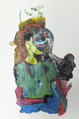 encre, gouache et crayon sur papier, 58 x 42 cm, 2015