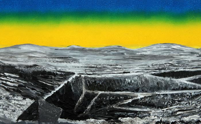 Acrylique sur papier de roche, 42 x 26 cm